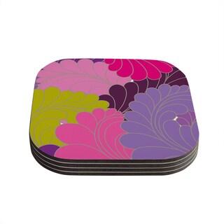 Kess InHouse Nicole Ketchum 'Moroccan Leaves' Coasters (Set of 4)