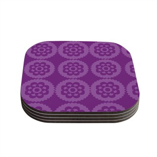 Kess InHouse Nicole Ketchum 'Moroccan Purple' Coasters (Set of 4)