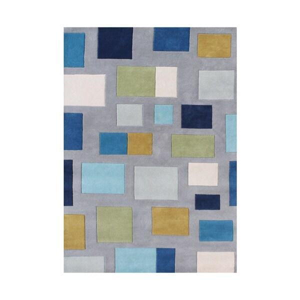 Alliyah Handmade Flint Grey New Zealand Wool / Art Silk Rug - 8' x 10'