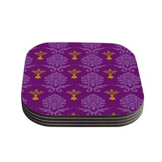 Kess InHouse Nicole Ketchum 'Purple Crowns' Coasters (Set of 4)
