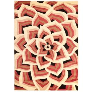 Persian Rugs 1121 Orange Area Rug (7'10 x 10'6)