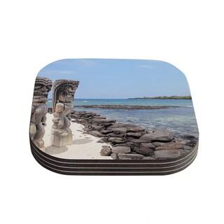 Kess InHouse Nastasia Cook 'City of Refuge' Coastal Coasters (Set of 4)