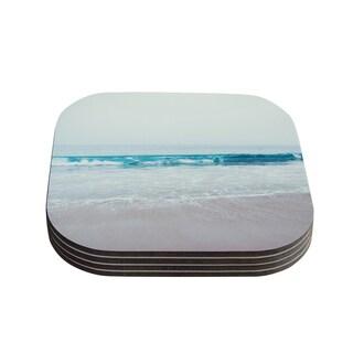 Kess InHouse Nastasia Cook 'Crystal Clear' Ocean Wave Coasters (Set of 4)