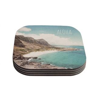 Kess InHouse Nastasia Cook 'Aloha' Mountain Beach Coasters (Set of 4)