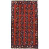 eCarpetGallery Hand-knotted Bahor Red Wool Rug (3'1 x 6'5)