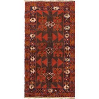 eCarpetGallery Red Wool Hand-knotted Kazak Rug (3'4 x 6'5)