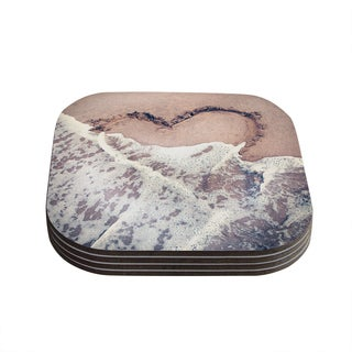 Kess InHouse Nastasia Cook 'Heart in the Sand' Beach Coasters (Set of 4)