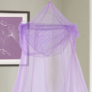 Raisinette Kids Collapsible Hoop Sheer Bed Canopy (Option: Purple)
