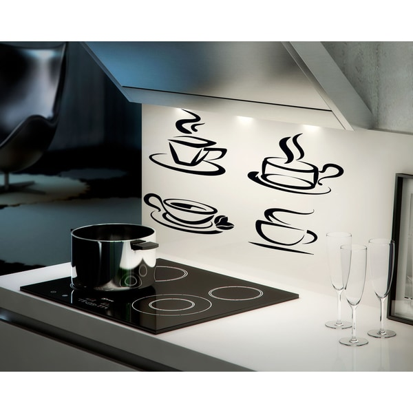 Cups of tea and coffee wall art sticker decal free for Tea and coffee wall art