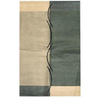 Handmade Herat Oriental Indo Tibetan Wool Area Rug (India) - 5'1 x 8'