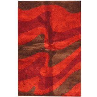 Herat Oriental Indo Hand-tufted Tibetan Wool Area Rug (5'3 x 8')