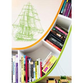Beautiful ship Wall Art Sticker Decal Green