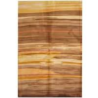 Herat Oriental Indo Hand-tufted Tibetan Wool Area Rug - 5'3 x 8'
