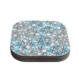 Kess InHouse Miranda Mol 'Chilly' Coasters (Set of 4)
