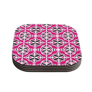 Kess InHouse Miranda Mol 'Think Pink' Coasters (Set of 4)