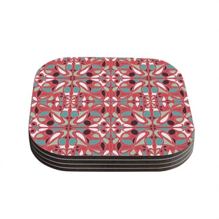 Kess InHouse Miranda Mol 'Stained Glass Pink' Coasters (Set of 4)