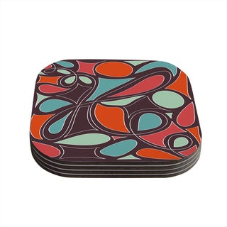 Kess InHouse Miranda Mol 'Retro Swirl' Coasters (Set of 4)