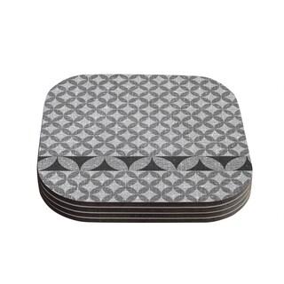Kess InHouse Nick Atkinson 'Diamond Black' Coasters (Set of 4)