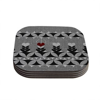 Kess InHouse Nick Atkinson 'Unique' Coasters (Set of 4)