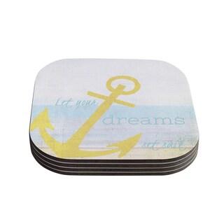 Kess InHouse Alison Coxon 'Let Your Dreams Set Sail' Coasters (Set of 4)