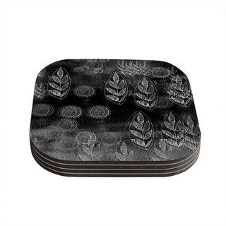 Kess InHouse Marianna Tankelevich 'Grey Dream' Black Grey Coasters (Set of 4)