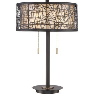 Quoizel Hideaway Mica Shade Table Lamp