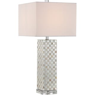 Quoizel Smokey Pearl With Pen Shell Base Table Lamp