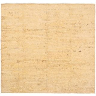 eCarpetGallery Rabat Hand-knotted Yellow Wool Rug (6'6 x 6'10)