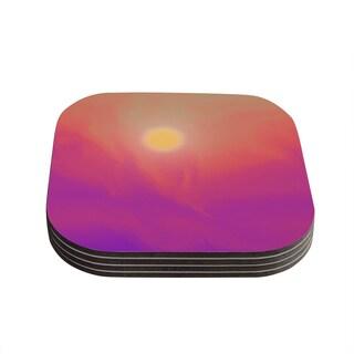 Kess InHouse Michael Sussna 'Yosemite Dawn' Pink Orange Coasters (Set of 4)