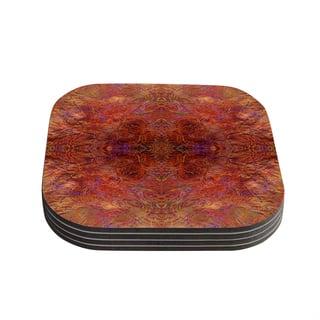 Kess InHouse Nikposium 'Sedona' Orange red Coasters (Set of 4)|https://ak1.ostkcdn.com/images/products/11803375/P18712030.jpg?impolicy=medium