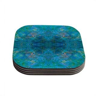 Kess InHouse Nikposium 'Clearwater' Blue Teal Coasters (Set of 4)