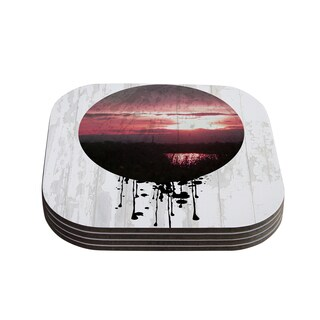Kess InHouse Micah Sager 'Valley' Sunset Splatter Coasters (Set of 4)