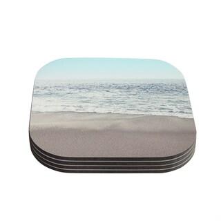 Kess InHouse Monika Strigel 'The Sea' Blue Coastal Coasters (Set of 4)