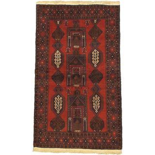 eCarpetGallery Hand-knotted Kazak Red Wool Rug (3'6 x 6'3)