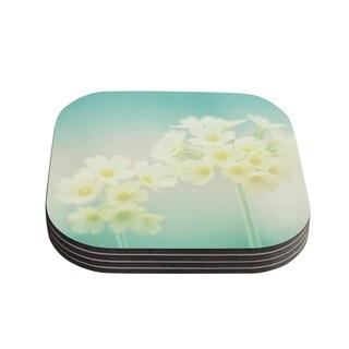 Kess InHouse Monika Strigel 'Happy Spring' Yellow Teal Coasters (Set of 4)