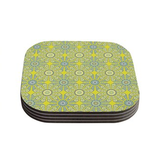 Kess InHouse Miranda Mol 'Budtime' Coasters (Set of 4)