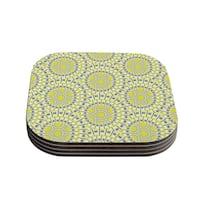 Kess InHouse Miranda Mol 'Sprouting Cells ' Coasters (Set of 4)