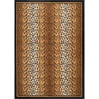 Home Dynamix Zone Collection Transitional Gold/Black Area Rug (21x35)