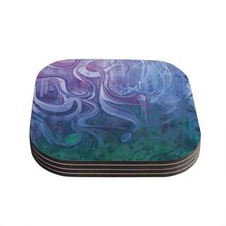 Kess InHouse Mat Miller 'Electric Dreams II' Coasters (Set of 4)