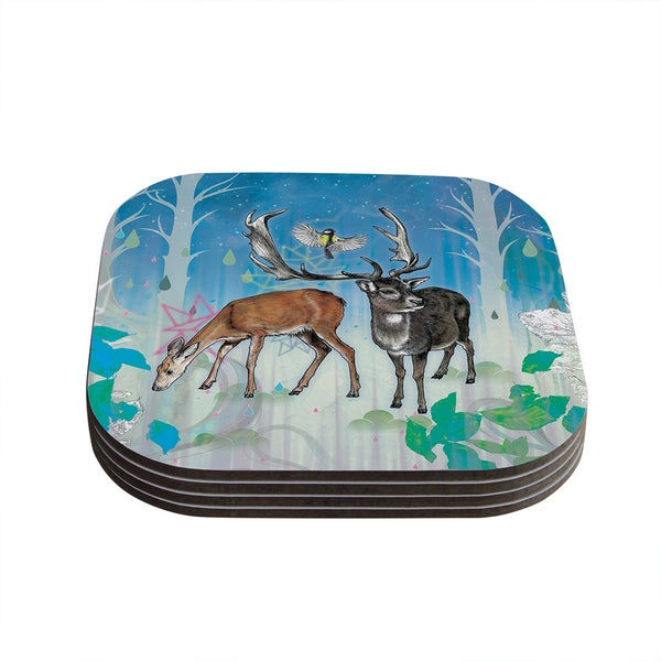 Kess InHouse Mat Miller 'Glade' Coasters (Set of 4)