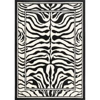 Home Dynamix Zone Collection Transitional Multicolor Area Rug - Black/White - 7'8 x 10'7