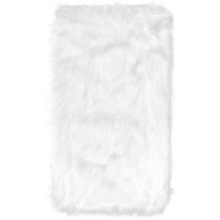 home dynamix arctic collection modern machine made faux fur area rug 5u0027 x 7