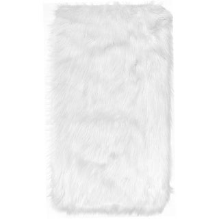 Home Dynamix Arctic Collection Modern Machine Made Faux Fur Area Rug (30-inch x 47-inch)