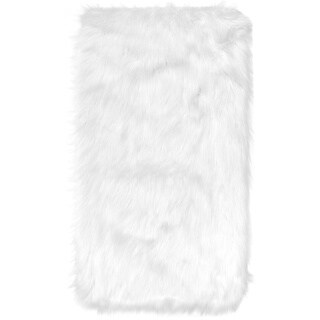 Home Dynamix Arctic Collection Modern Machine Made Faux Fur Area Rug (3'5 x 5'5)