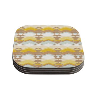Kess InHouse Nika Martinez 'Retro Desert' Coasters (Set of 4)