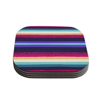 Kess InHouse Nika Martinez 'Surf Stripes' Coasters (Set of 4)