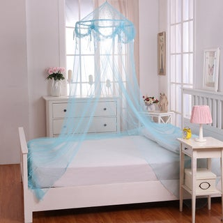 Buttons and Bows Kids' Collapsible Hoop Sheer Bed Canopy