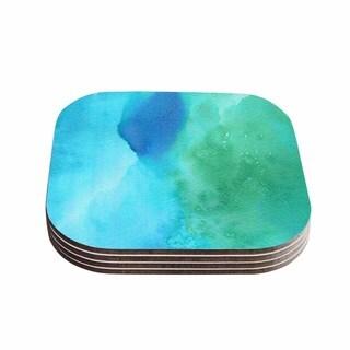 Kess InHouse Li Zamperini 'Marine' Green Blue Coasters (Set of 4)