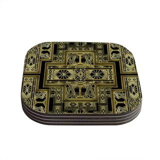 Kess InHouse Nika Martinez 'Golden Art Deco' Coasters (Set of 4)