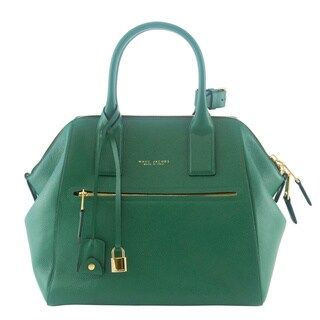 Marc Jacobs Green Textured Large Incognito Tote